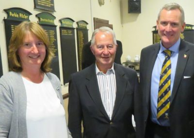 Jane Hildreth with Tim Pickford and Member Mr S Wiles